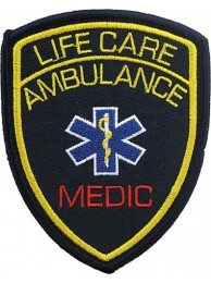 AMBULANCE IRON ON EMBROIDERED PATCH #01