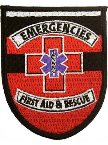 AMBULANCE IRON ON EMBROIDERED PATCH #02