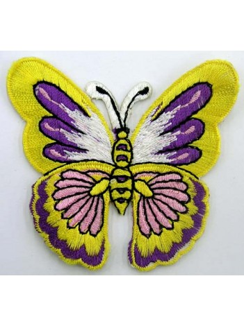 BUTTERFLY IRON ON EMBROIDEDRED PATCH #01