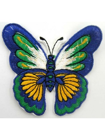 BUTTERFLY IRON ON EMBROIDEDRED PATCH #02