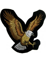 EAGLE BIKER IRON ON EMBROIDERED PATCH #01