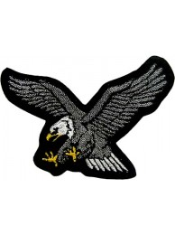 EAGLE BIKER IRON ON EMBROIDERED PATCH #06