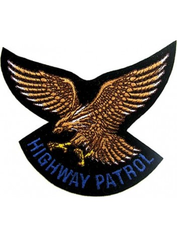 EAGLE BIKER IRON ON EMBROIDERED PATCH #07