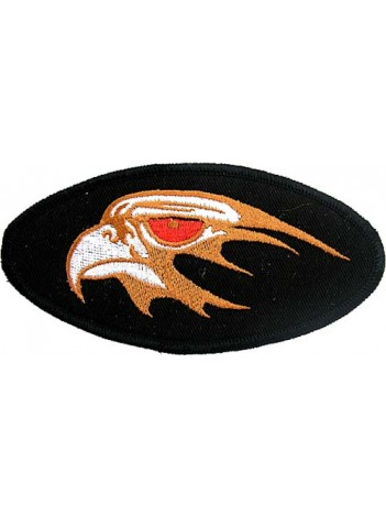 EAGLE BIKER IRON ON EMBROIDERED PATCH #11