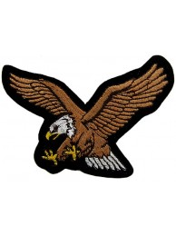 EAGLE BIKER IRON ON EMBROIDERED PATCH #15