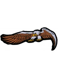 EAGLE BIKER IRON ON EMBROIDERED PATCH #17