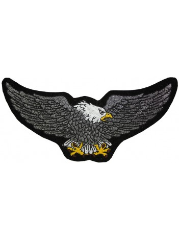 EAGLE BIKER IRON ON EMBROIDERED PATCH #18
