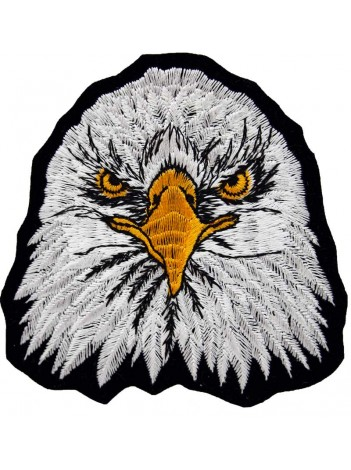 EAGLE BIKER IRON ON EMBROIDERED PATCH #19