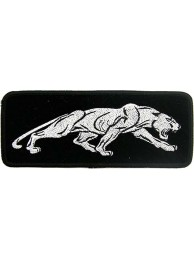 JAGUAR BIKER IRON ON EMBROIDERED PATCH #02