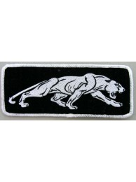 JAGUAR BIKER IRON ON EMBROIDERED PATCH #03