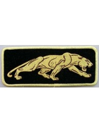 JAGUAR BIKER IRON ON EMBROIDERED PATCH #04