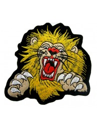 LIONBIKER IRON ON EMBROIDERED PATCH #01