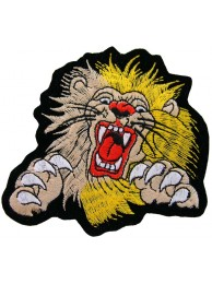 LIONBIKER IRON ON EMBROIDERED PATCH #02