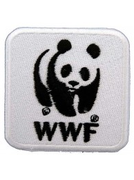 WWF PANDA IRON ON EMBROIDERED PATCH
