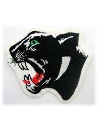 PANTHERBIKER IRON ON EMBROIDERED PATCH #02