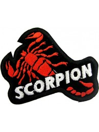 SCORPION BIKER BIKER IRON ON EMBROIDERED PATCH #02