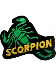 SCORPION BIKER BIKER IRON ON EMBROIDERED PATCH #04
