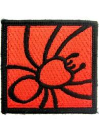 SPIDER BIKER BIKER IRON ON EMBROIDERED PATCH #01