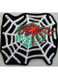 SPIDER BIKER BIKER IRON ON EMBROIDERED PATCH #04