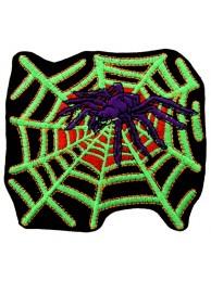 SPIDER BIKER BIKER IRON ON EMBROIDERED PATCH #05
