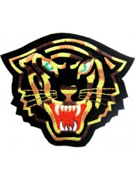 TIGER BIKER BIKER IRON ON EMBROIDERED PATCH #11
