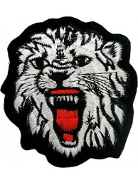 WOLF BIKER IRON ON EMBROIDERED PATCH #04