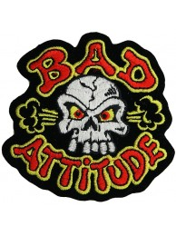 BAD ATTITUDE GHOST SKULL PUNK & ROCK PATCH #01