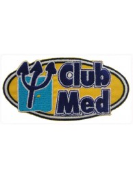 CLUB MED HOLIDAY IRON ON EMBROIDERED PATCH #01
