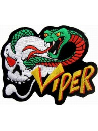 COBRA & SKULL (VIPER) PUNK / ROCK PATCH