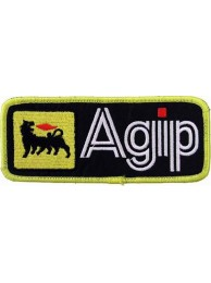 AGIP RACING IRON ON EMBROIDERED PATCH #01