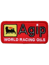 AGIP RACING IRON ON EMBROIDERED PATCH #05