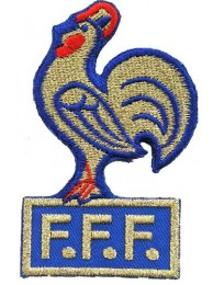 FRANCE FOOTBALL FEDERATION SOCCER EMBROIDERED PATCH #03
