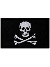 Jolly Roger Skull Flags Embroidered Patch