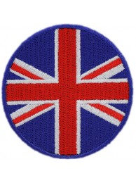 BRITISH GREAT BRITAIN ROUND FLAG EMBROIDERED PATCH