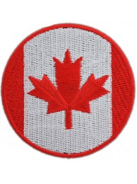 CANADA ROUND FLAG EMBROIDERED PATCH
