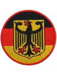 GERMANY ROUND FLAG EMBROIDERED PATCH
