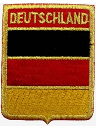 DEUTSCHLAND GERMAN SHIELD FLAG EMBROIDERED PATCH