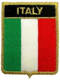 ITALY SHIELD FLAG EMBROIDERED PATCH