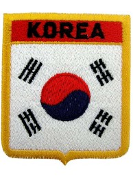 KOREA SHIELD FLAG EMBROIDERED PATCH
