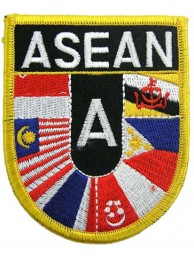 ASEAN SHIELD FLAG PATCH (SB)