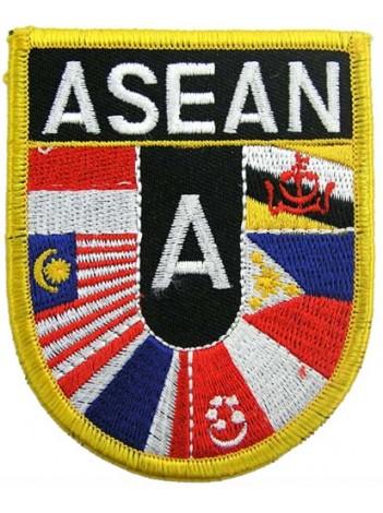 ASEAN SHIELD FLAG PATCH (SB)