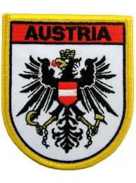 AUSTRIA SHIELD EMBLEM FLAG PATCH (SB)