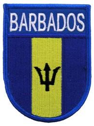 BARBADOS SHIELD FLAG PATCH (SB)