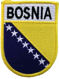 BOSNIA & HERZEGOBINA SHIELD FLAG PATCH (SB)