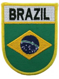 BRAZIL SHIELD FLAG PATCH (SB)