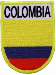 COLOMBIA SHIELD FLAG PATCH (SB)
