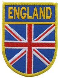 ENGLAND SHIELD FLAG PATCH (SB)