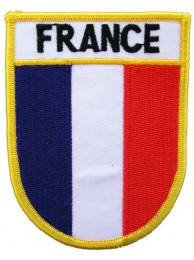 FRANCE SHIELD FLAG PATCH (SB)
