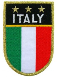 ITALY SHIELD FLAG PATCH (SB)