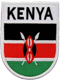 KENYA SHIELD FLAG PATCH (SB)